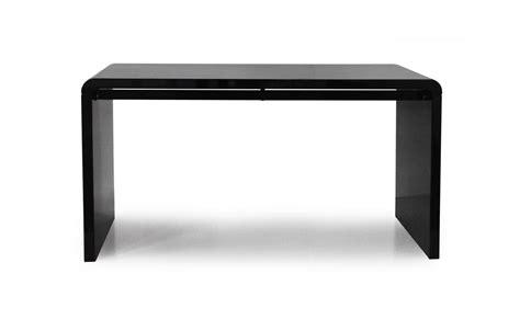 bureau noir laqué console design ou bureau laqué taupe noir ou blanc 140 cm
