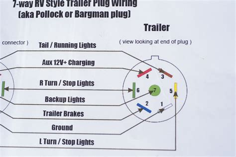 6 prong trailer 4 wire lights four flat wiring 7 way