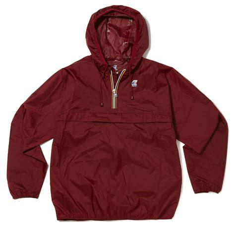 K-WAY Leon Classic Half Zip Kangaroo Pocket Waterproof Hooded FESTIVAL Jacket | eBay