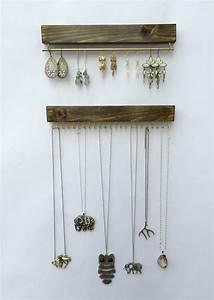 Support à Bijoux : wall mount jewelry organizer necklace holder and earring ~ Teatrodelosmanantiales.com Idées de Décoration