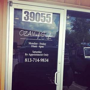 business hours vinyl decal store hours window graphics vinyl With vinyl lettering for glass doors