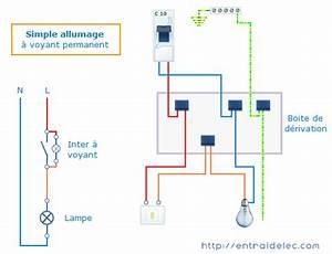 Branchement Interrupteur Avec Voyant : schema electrique simple allumage avec voyant lumineux ~ Dailycaller-alerts.com Idées de Décoration