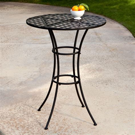 wrought iron patio table black wrought iron outdoor bistro patio table with