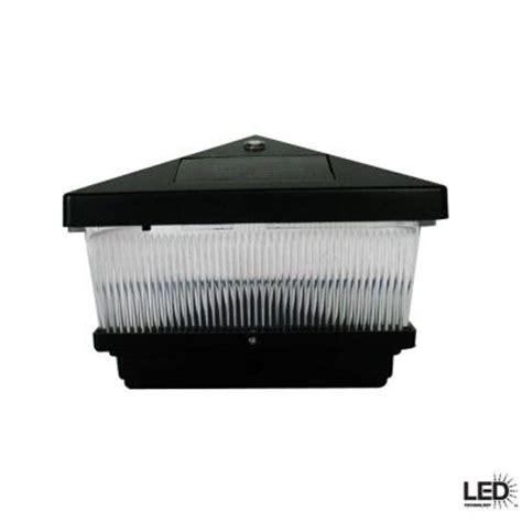 hton bay black solar post cap led light with 6 x 6