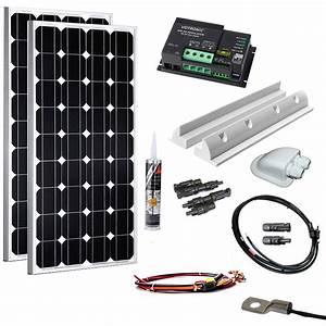 Solaranlage Mit Batterie : 200w solaranlage f r wohnmobile und camper wattstunde ~ Whattoseeinmadrid.com Haus und Dekorationen