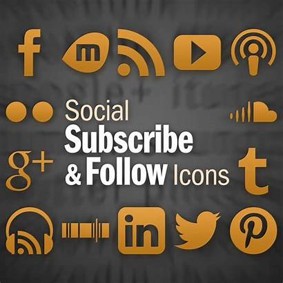 Subscribe Icons Follow Social Wordpress Plugin Square