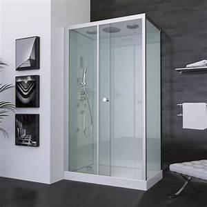aurlane cabine de douche zen 70x120cm achat vente With porte de douche coulissante avec radio mp3 salle de bain