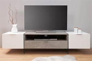 Tv Lowboard Beton : komoda szafka tv lowboard onyx beton biel 38142 ~ Indierocktalk.com Haus und Dekorationen