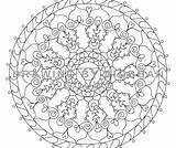 Coloring Chakra Throat Mandala sketch template