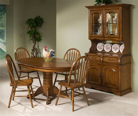 classic oak  dining room set burnished rustic