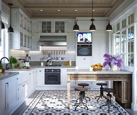 cuisine style provencale moderne maison familiale russe au design intérieur néo