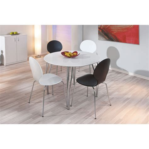 table ronde cellini 100 cm blanc métal 50700320 achat