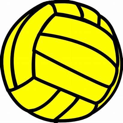 Volleyball Yellow Clip Clipart Vector Clker