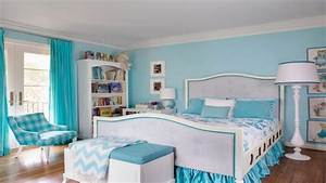 Apartment size bedroom furniture, light blue teenage girl