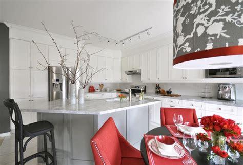 white  red kitchen contemporary kitchen meredith