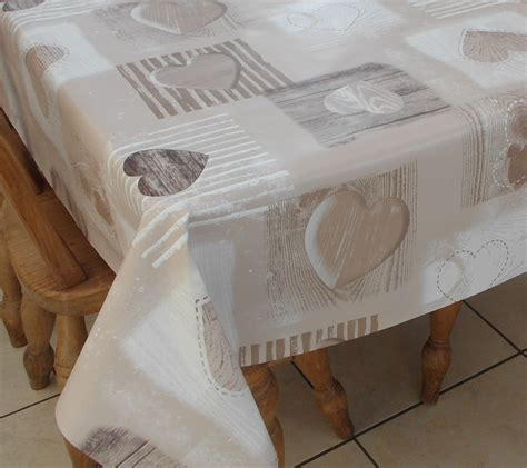 wipe clean table cloth square wipe clean tablecloth beige wooden heart the