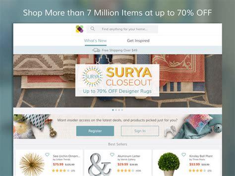 wayfair shop furniture home decor daily sales screenshot