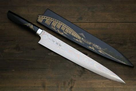 best home kitchen knives takeshi saji damascus japanese sujihiki sushi chef knife