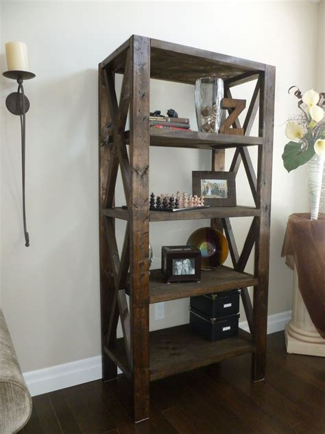 rustic bookcase    home projects  ana