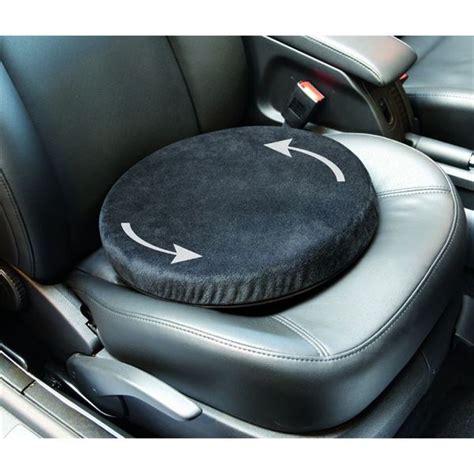 protection siege voiture pour siege auto coussin pivotant spécial mal de dos et ou jambes feu vert