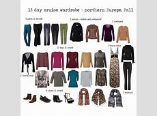 Europe Cruise Wardrobe fall travel Style Pinterest