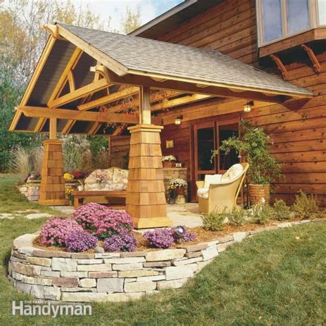 build  outdoor living room  family handyman