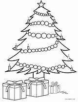 Coloring Tree Christmas Presents Pages Drawing Printable Cool2bkids Trees Drawings Craft Template Colorings Crafts Gifts Present Outline Colorful Merry Diy sketch template