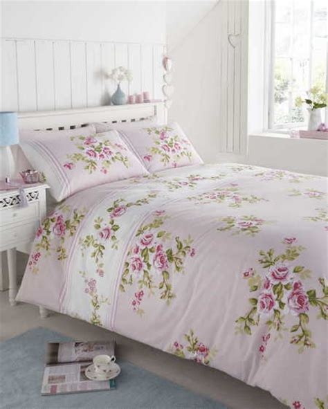 shabby chic floral bedding uk floral quilt duvet cover bedding bed sets 3 sizes polycotton shabby chic new ebay
