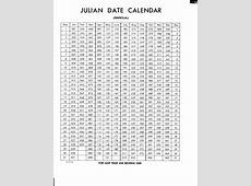 Julian Date Calendar Calendar Template 2018