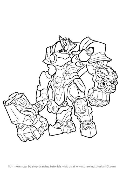 Kleurplaat Overwatch Doomfist by Learn How To Draw Reinhardt From Overwatch Overwatch