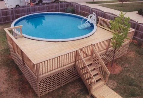 Pool Deck Designs For A 24 Round Above Ground