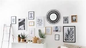 Cadre Deco Noir Et Blanc : tuto d co r alisez un mur de cadres sans percer d co en 2019 deco deco mur et mur de cadres ~ Melissatoandfro.com Idées de Décoration