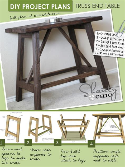 diy sofa table plans free easy sofa table plans woodworking projects plans
