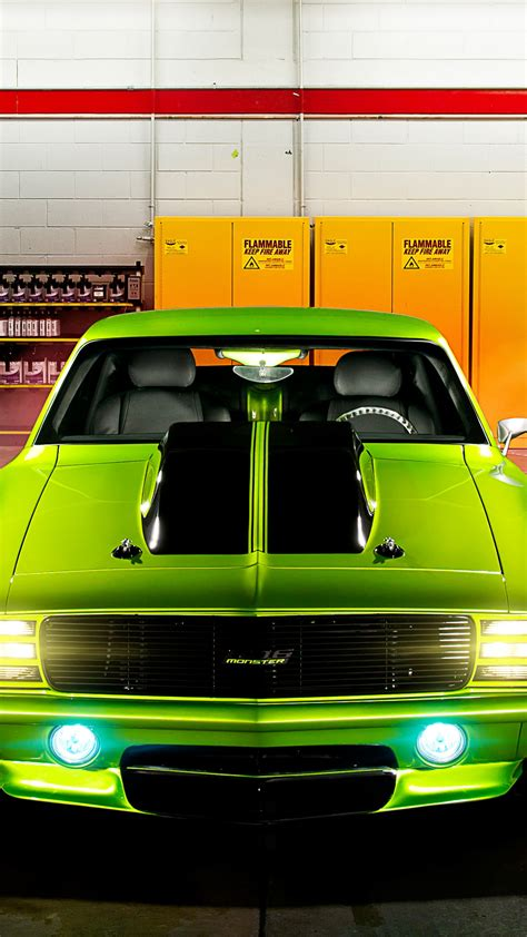 wallpaper chevrolet camaro ss  green monster