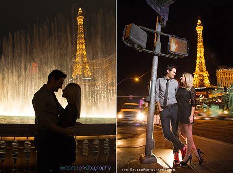 las vegas strip engagement photo session creative las
