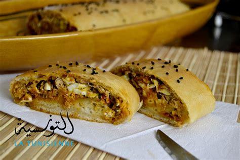recette cuisine tunisienne brioché farci à la tunisienne