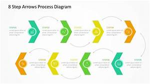 8 Step Arrows Process Diagram  With Images