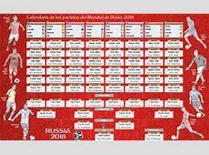 Calendario de los partidos del Mundial de Rusia2018