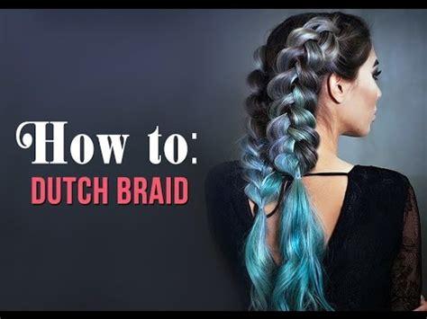 dutch braid  clip  hair extensions youtube