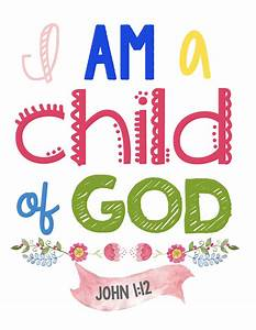 Printable Children's Scripture Wall Art - perfect for a