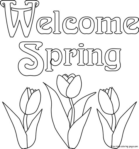 print  spring flowers tulips coloring page  printable coloring pages  kidsfree