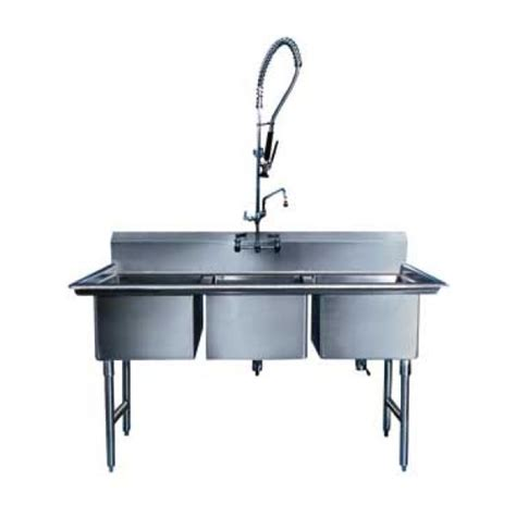 three compartment kitchen sink win holt ws3t1620 win fab three compartment sink 20 quot x 16 quot 6107