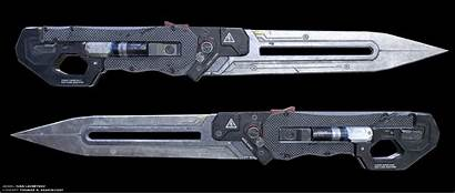 Sci Fi Weapons Knife Knives Concept Blade