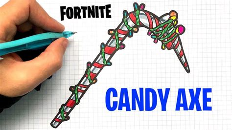 draw candy axe fortnite youtube