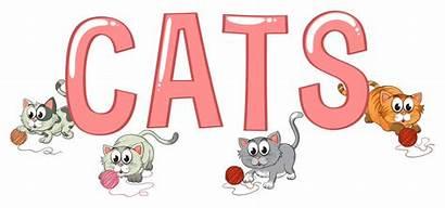 Word Cats Font Vector Science Premium Clipart