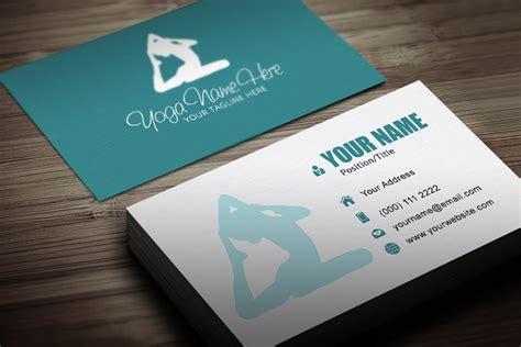 nice fitness business card psds