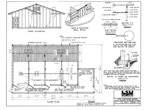 Hog Barn Plans building plans
