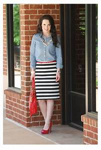L and the stripe skirt.... - The Double Take Girls