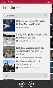 MSN News XAP 3.1.6.0 - Free News & Weather App for Windows Phone - Appx4Fun
