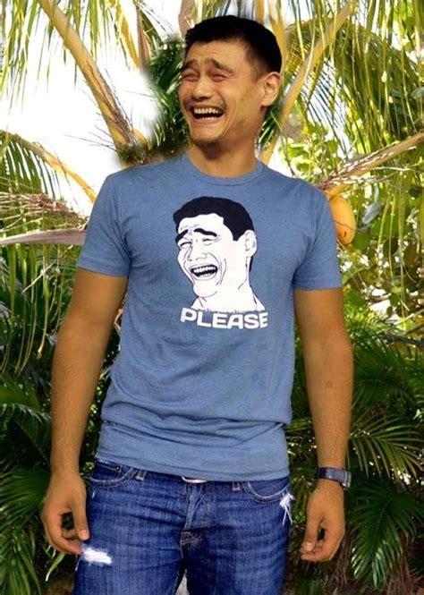 Meme Yao - yao ming wearing yao ming meme shirt daily picks and flicks